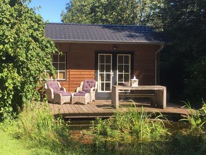 Vakantiehuisje Vaassen omheinde tuin